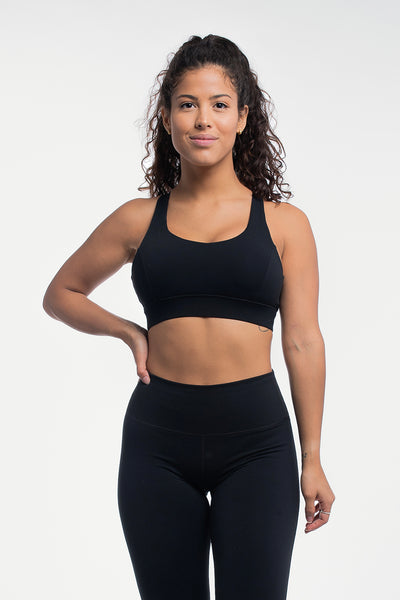 Luna Sports Bra in Black