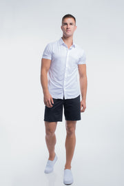 Motive Short Sleeve Dress Shirt in White