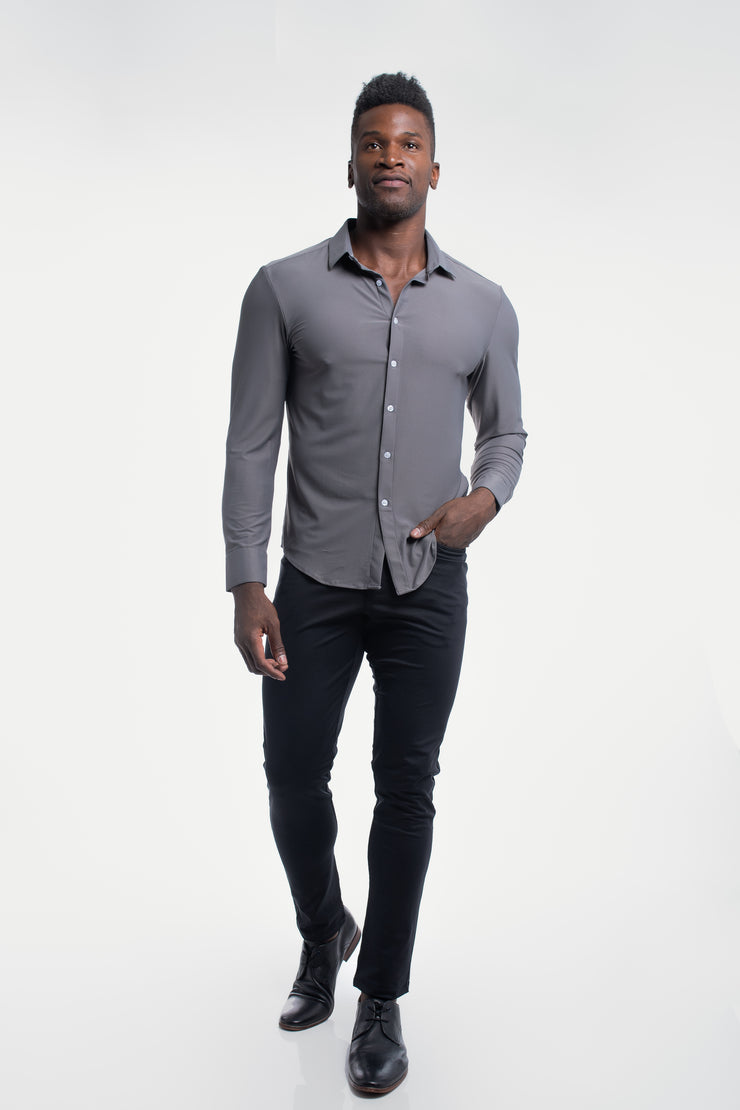 Motive Dress Shirt in Gray - image no.2