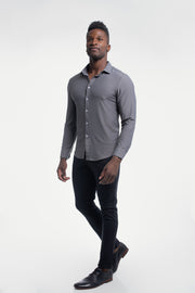 Motive Dress Shirt in Gray - thumbnail image no.4