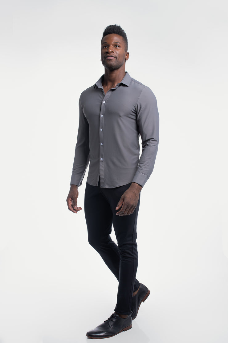 Motive Dress Shirt in Gray - image no.4