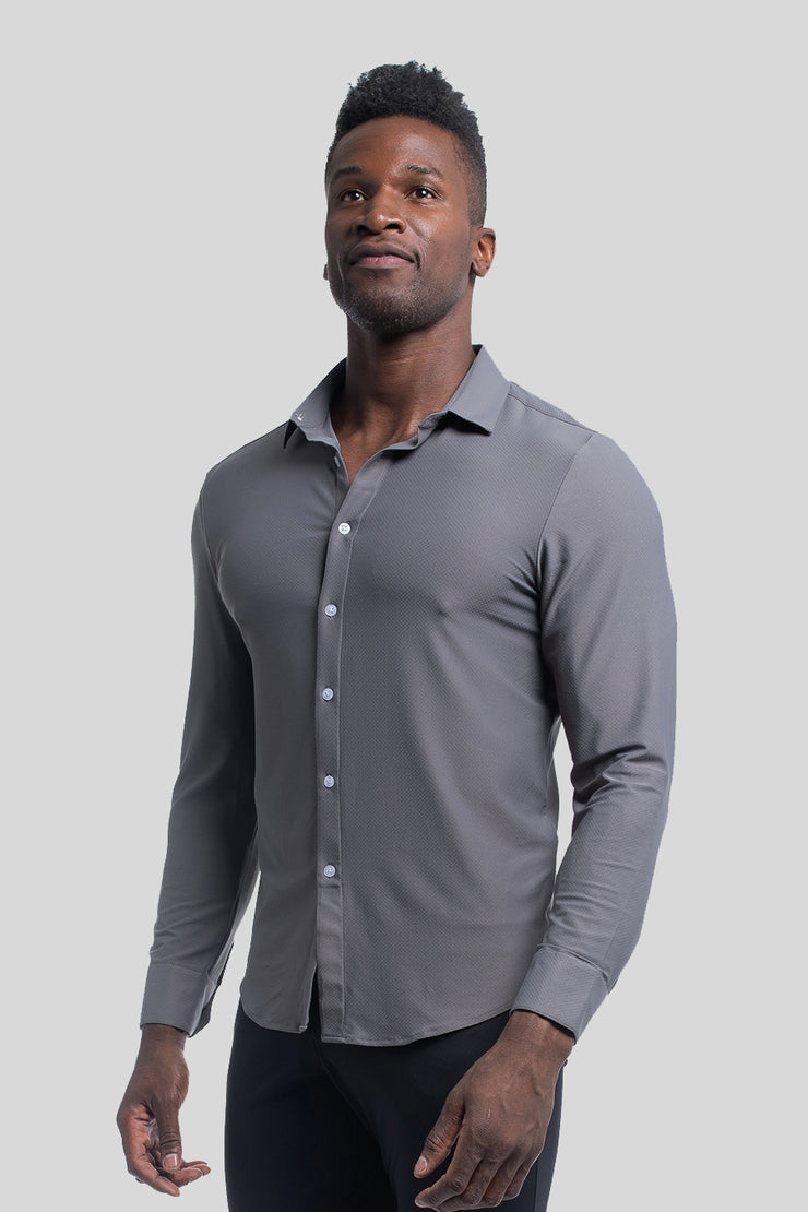 Motive Dress Shirt in Gray - image no.1