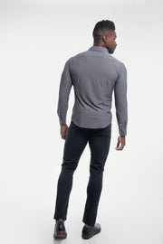Motive Dress Shirt in Gray - thumbnail image no.3