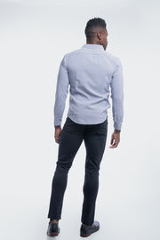 Motive Dress Shirt in Black Stripe - thumbnail image no.3