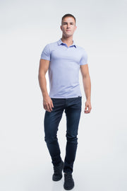 Havok Polo in Heather Purple - thumbnail image no.2
