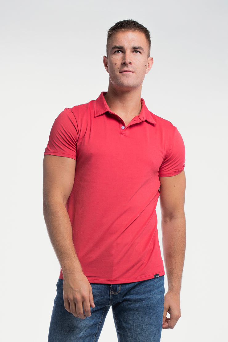 Havok Polo in Crimson