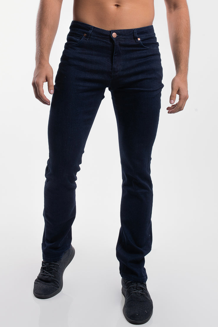 Boot Cut Athletic Fit in Dark Rinse - image no.1