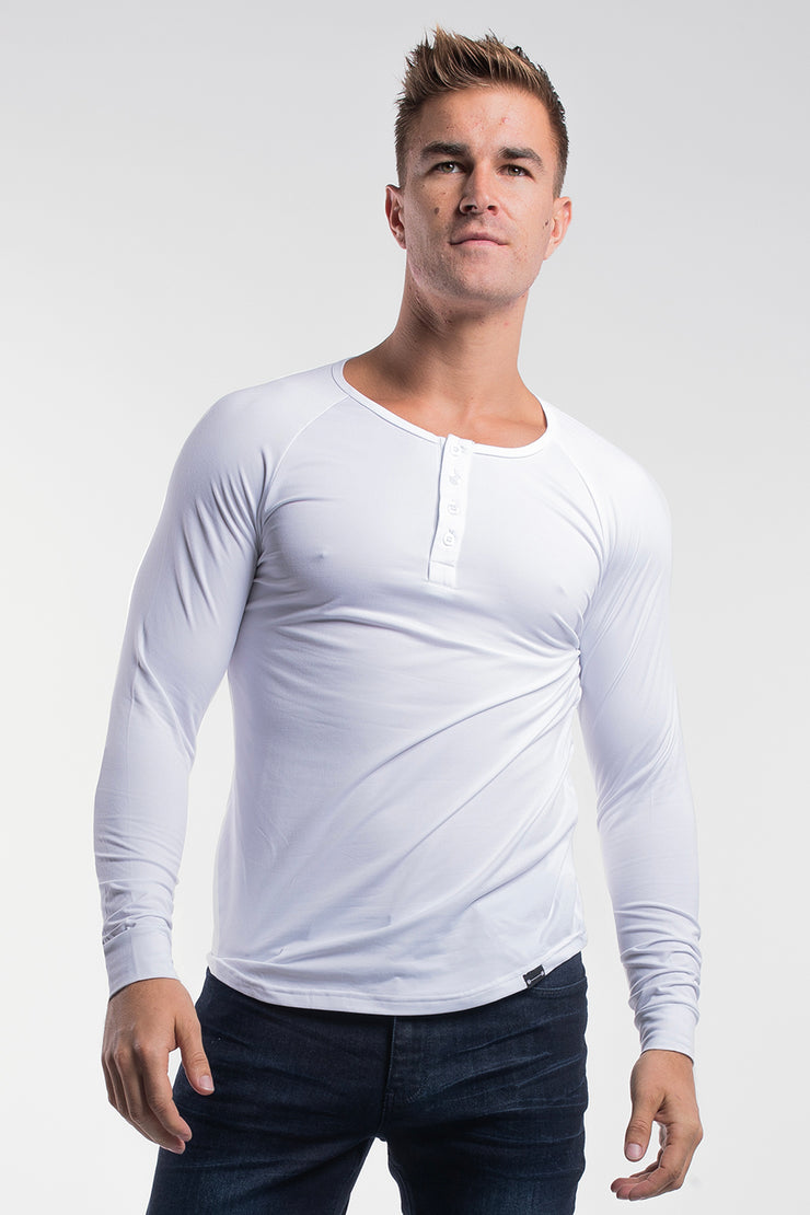 Scout Henley in Arctic White