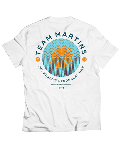 Martins Licis x Barbell Apparel Beach Pocket T-Shirt in White