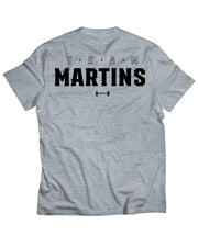 "Martins Licis x Barbell Apparel ""Team Martins"" T-shirt in Gray"