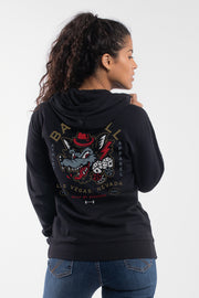 All In Hoodie in Black - Womens - thumbnail image no.2