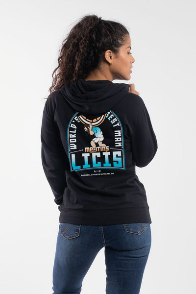 Martins Worlds Strongest Mandarin Hoodie in Black - Women's
