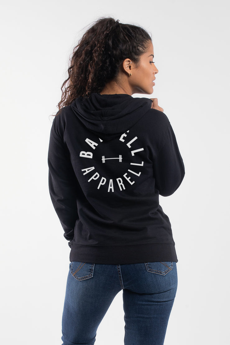 """Full Circle"" Hoodie in Black - Women's"