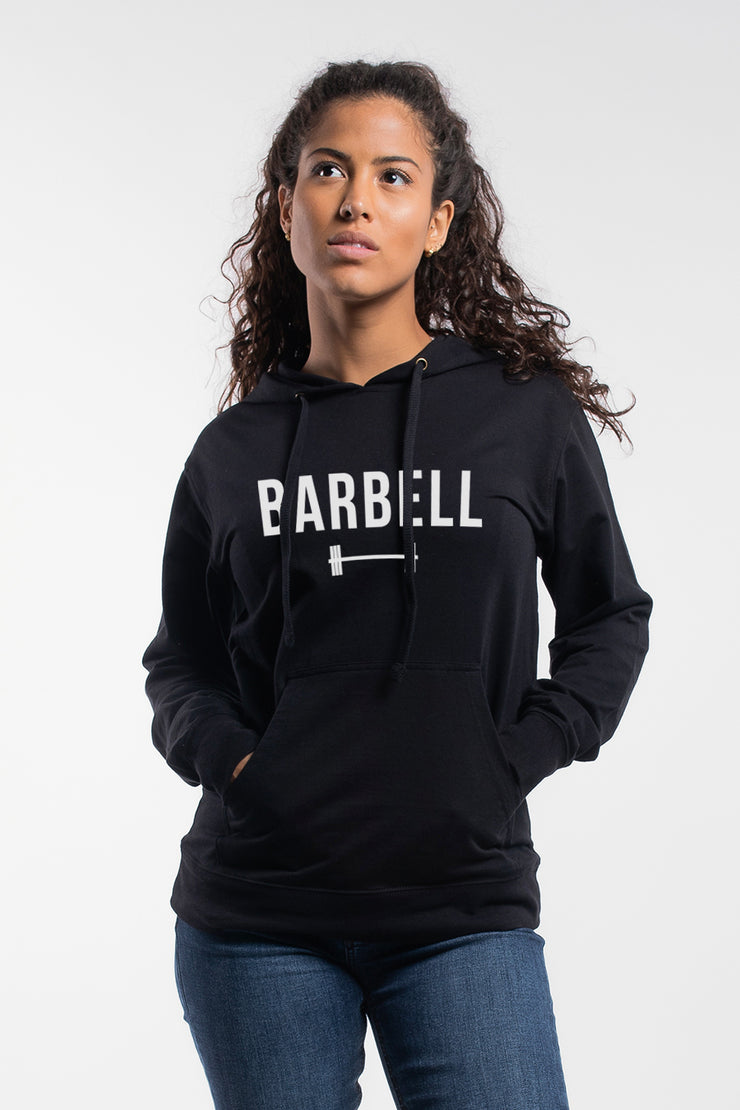 """Barbell"" Hoodie in Black - Women's"