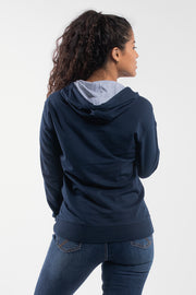 Barbell Hoodie in Navy - Womens - thumbnail image no.2