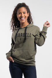 Barbell Hoodie in OD Green - Womens - thumbnail image no.1