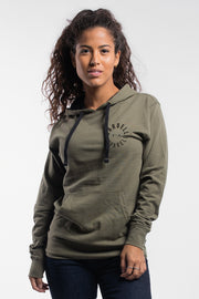 Full Circle Hoodie in Olive - Womens - thumbnail image no.1