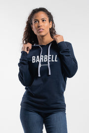 Barbell Hoodie in Navy - Womens - thumbnail image no.1