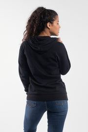 Barbell Hoodie in Black - Womens - thumbnail image no.2