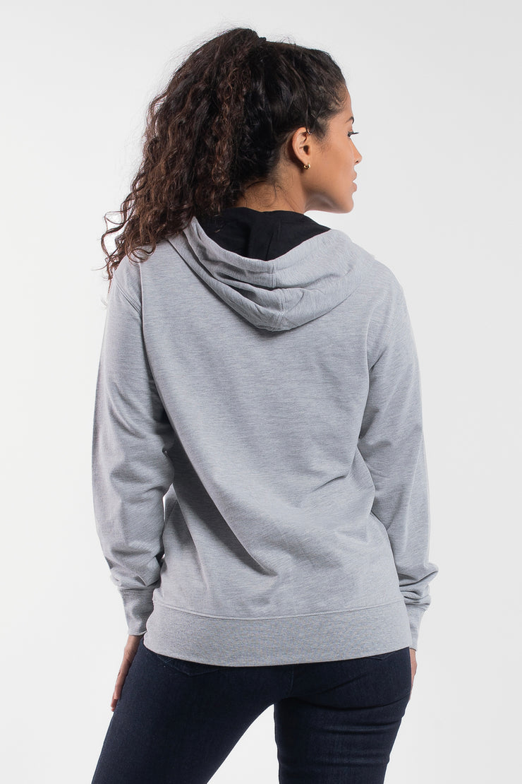 Barbell Hoodie in Gray - Womens - image no.2