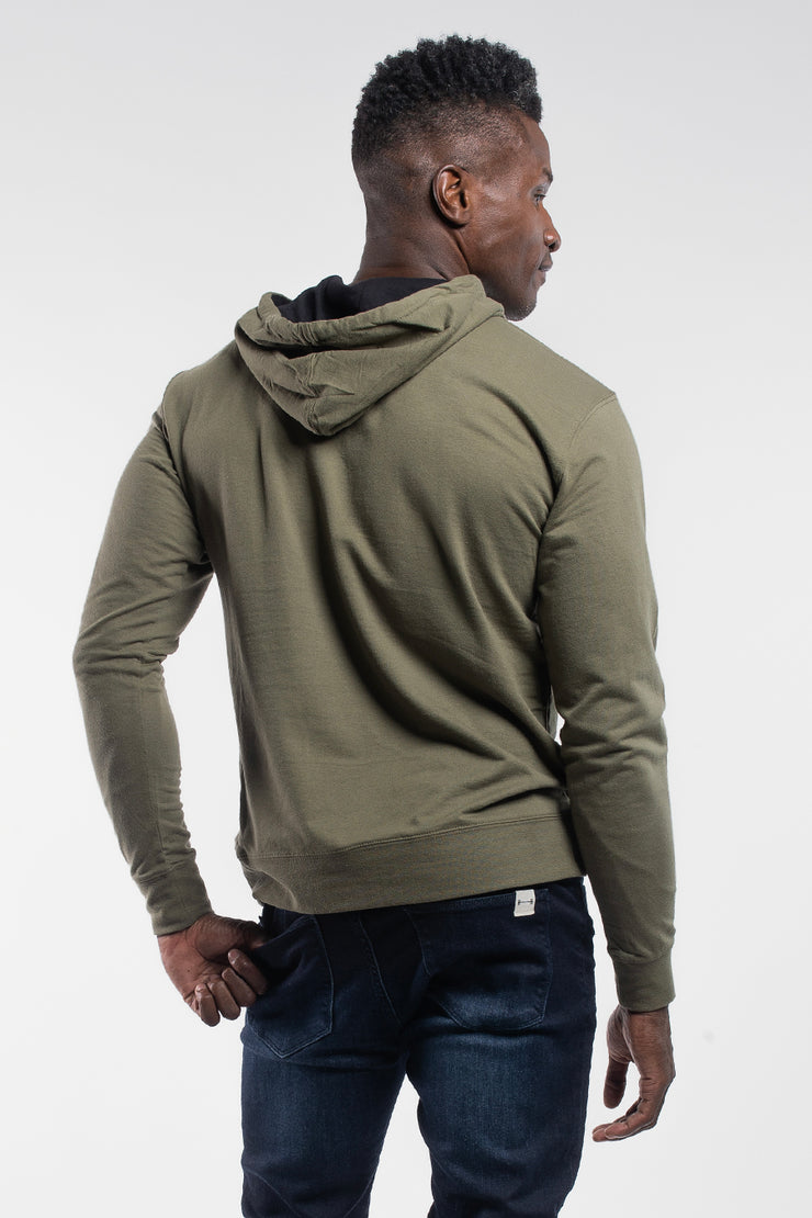 Barbell Hoodie in OD Green - image no.2