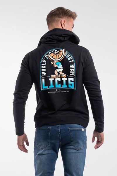 Martins World's Strongest Mandarin Hoodie in Black