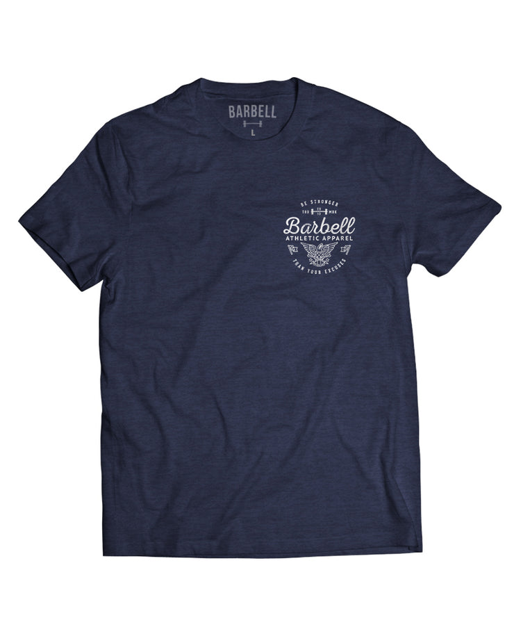 """Be Stronger"" Shirt in Navy"