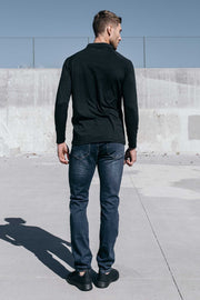 Havok Long Sleeve Polo in Black