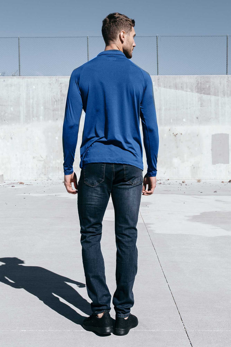 Havok Long Sleeve Polo in Cobalt