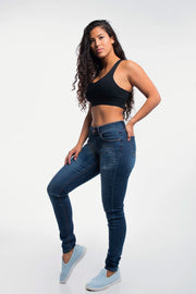 Slim Athletic Fit in Distressed Medium Wash - thumbnail image no.4
