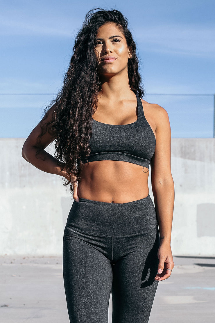 Form Sports Bra in Charcoal