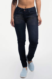 Slim Athletic Fit in Distressed Dark Wash - thumbnail image no.1