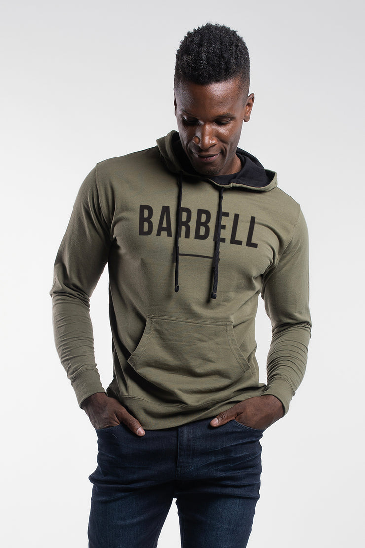 Barbell Hoodie in OD Green - image no.1