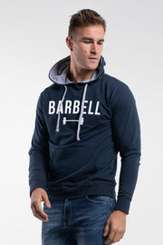 Barbell Hoodie in Navy - thumbnail image no.1