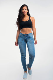 Slim Athletic Fit in Distressed Light Wash - thumbnail image no.4