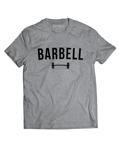 """Barbell"" Logo Shirt in Gray"