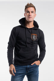 The Leopard Hoodie in Black - thumbnail image no.1