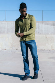 Havok Long Sleeve Polo in Olive Drab