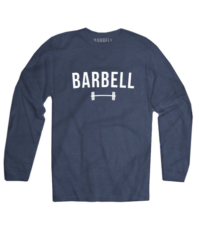 """Barbell"" Logo Long Sleeve in Navy"