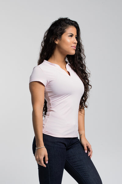 Rise Polo In Blush