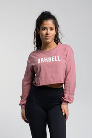 Starter Crop Long Sleeve in Mauve - thumbnail image no.1