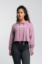 Starter Crop Hoodie In Orchid - thumbnail image no.1