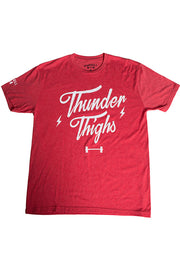 """Thunder Thighs"" Shirt in Red"
