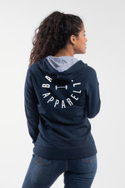 Full Circle Hoodie in Navy - Womens - thumbnail image no.2