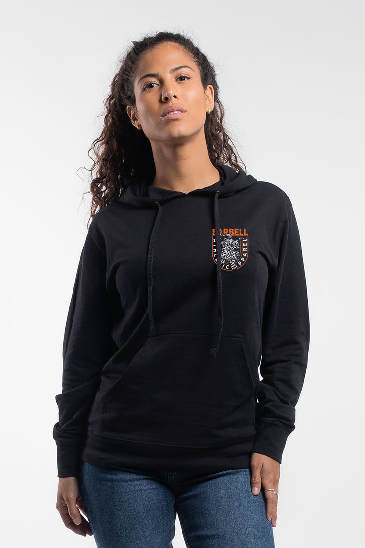 The Leopard Hoodie in Black - Womens - image no.1