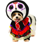 Load image into Gallery viewer, Walking Day Of The Dead Dress Pet Costume