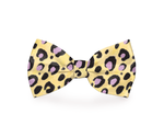 Load image into Gallery viewer, Yellow Cheetah Print Dog Bow Tie