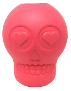 MKB Sugar Skull Durable Rubber Chew Toy & Treat Dispenser - Large -