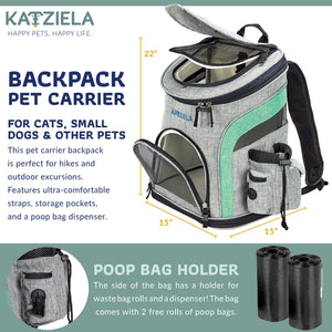 Katziela  Airline Approved Backpack for Pets