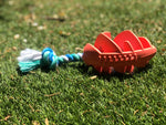 Load image into Gallery viewer, Rubber Football Chew Toy with Tug Rope